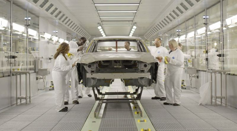 New car production at Volvo