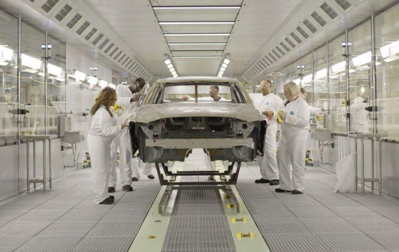 Produzione di auto nuove presso Volvo