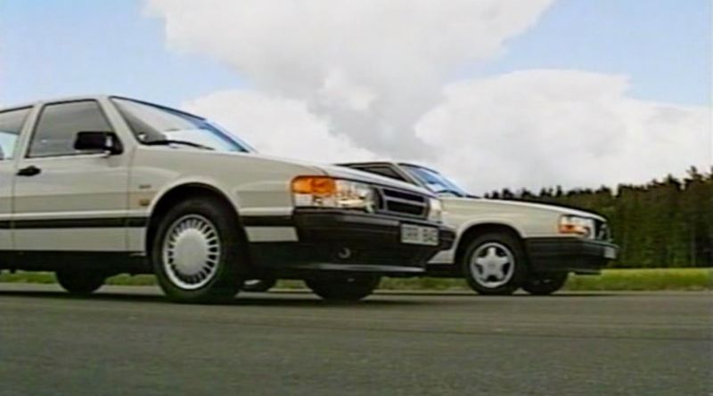 Sweden duel. Saab 9000 2.3i 16v against Volvo 740 GLT.