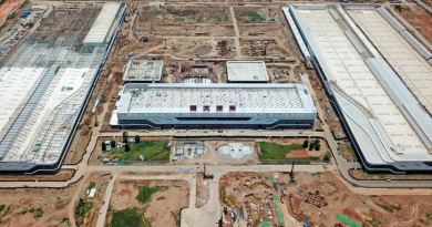Vista da nova fábrica de Evergrande-Hengchi em Nansha