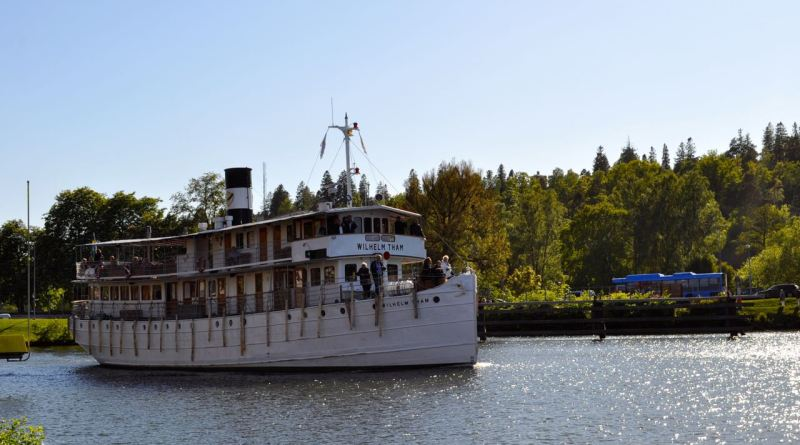 The Wilhelm Tham on the Göta Canal near Trollhättan