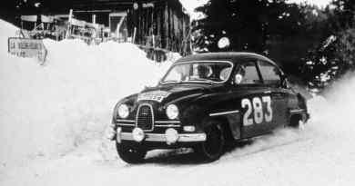 Erik Carlsson e Saab al Rally di Monte Carlo
