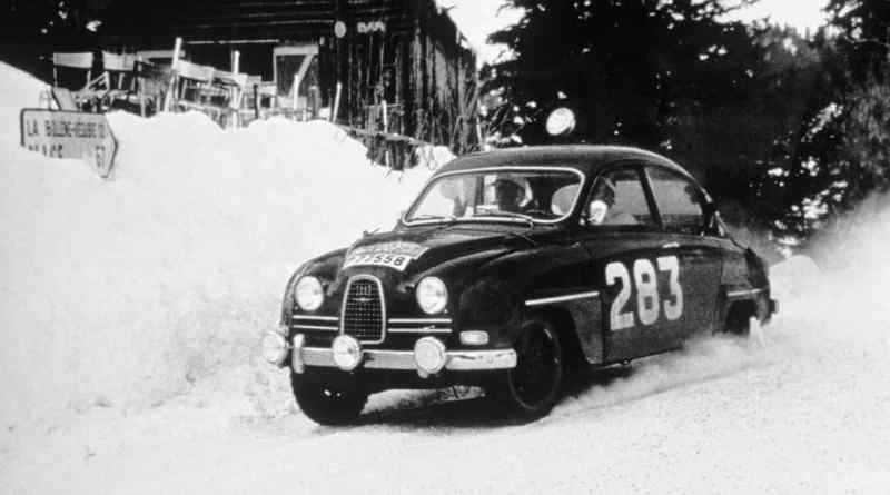 Erik Carlsson and Saab at the Monte Carlo Rally