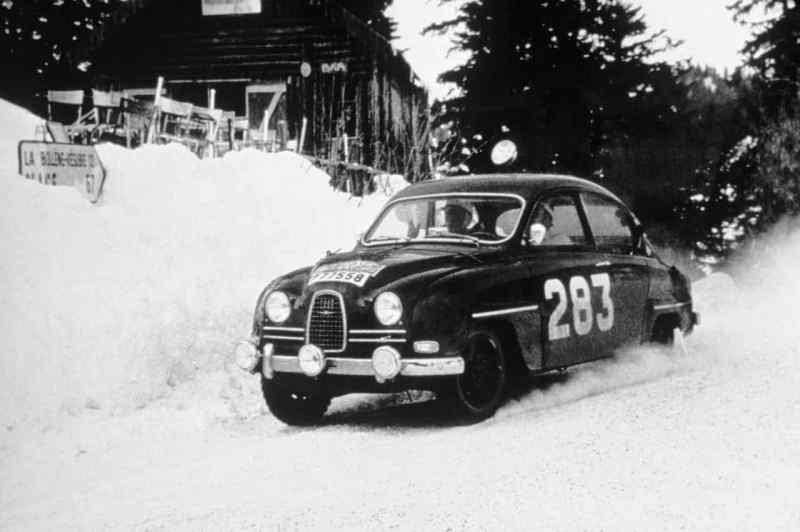 Erik Carlsson und Saab auf der Rallye Monte Carlo