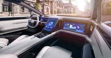 Touchscreen in macchina. Prototipo EV di Human Horizons, serie prevista per il 2021