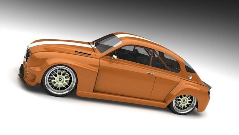 Saab 96 Retro Idee von Bo Zolland