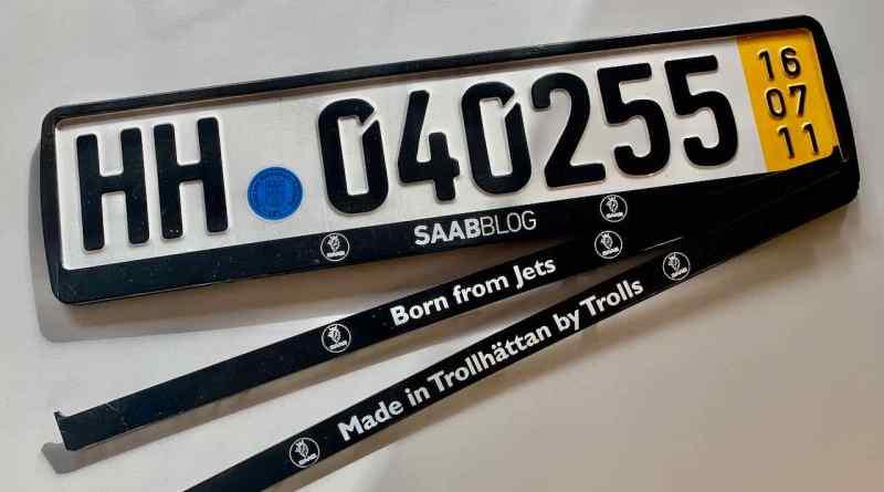 Die Saab Kennzeichenhalter sind in 3 Varianten verfügbar