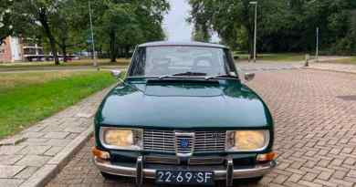 Saab 99 Series 1 - chrome grill and bumpers give the sedan lightness