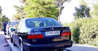 Saab 9-5 na van da Alemanha para a Espanha