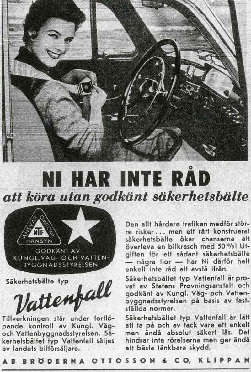 Anuncio del sistema de cinturones de seguridad Vattenfall