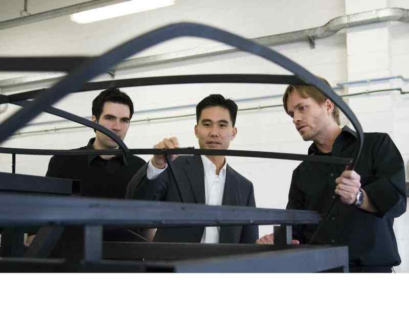 Anthony Lo (Mitte) während des Aero X Projekts