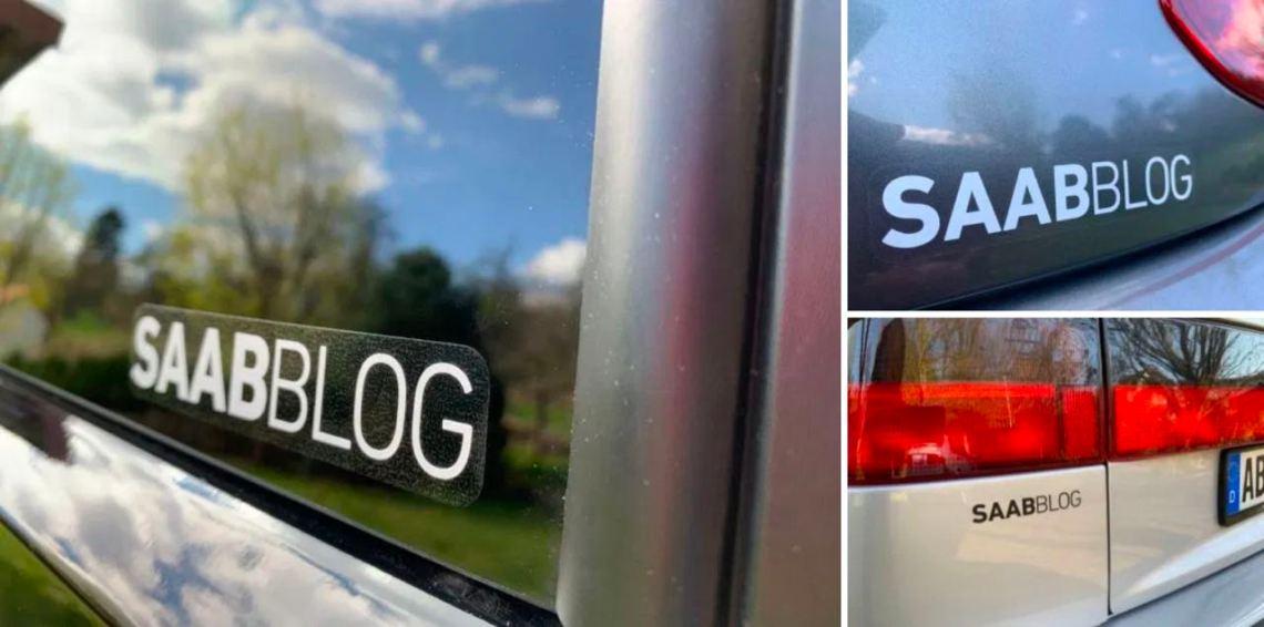 Saab Blog Aufkleber