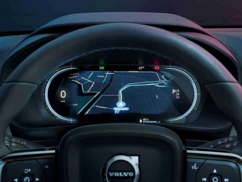 Cockpit digital do Volvo C40