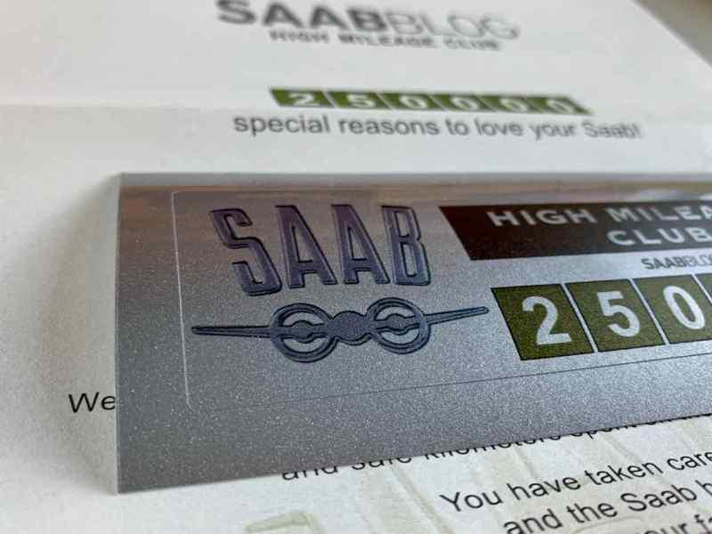 Saab High Mileage Club - bei 250.000 starten wir!