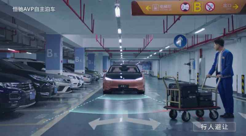 Automated parking - Hengchi 1 recognizes pedestrians and obstacles