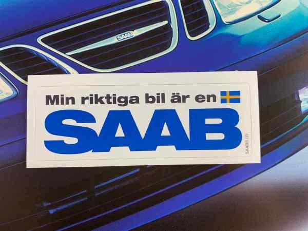Min riktiga bil är en Saab - синий