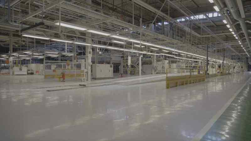 Voormalige Saab-fabriek - productielijn