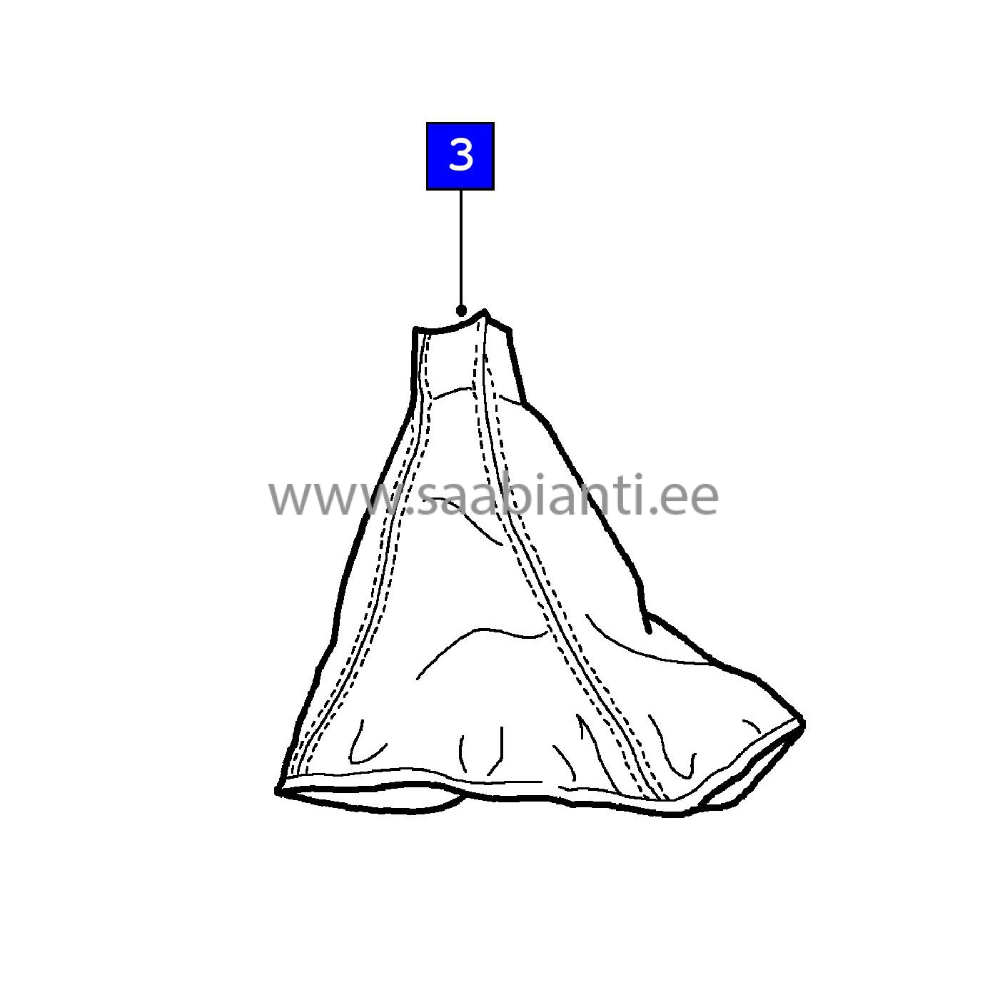 Gear Lever (shifter) Leather Gaiter SAAB 5590849