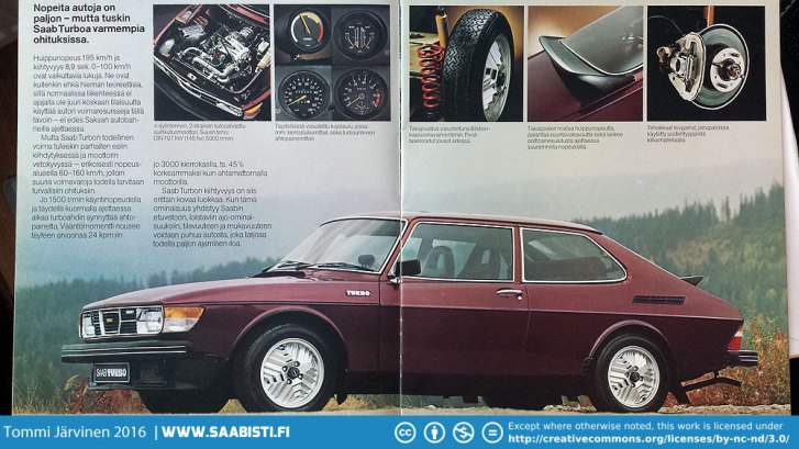 Saab 99 Turbo brochure in 1978