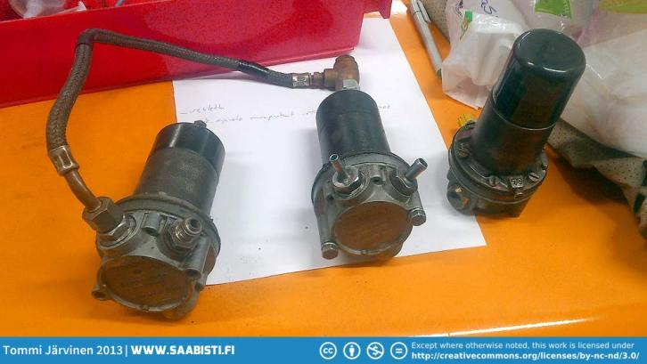 Original SU fuel pumps. We decided to use one pump setup and keep another as a spare.
