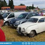 Saab is something of a legend of the 1000 Lakes rally, but I was still surprised that my car got a whole lot of attention. A lot of Thumbs Ups...