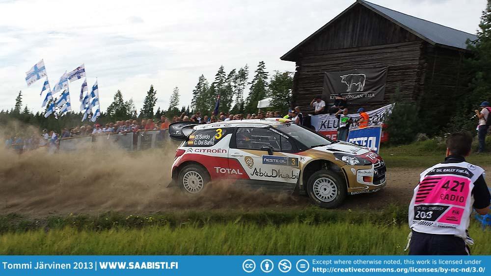Neste Rally Finland 2013 with Simo Lampinen