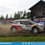 Dani Sordo and the Citroen on the Torittu special stage at Neste Rally Finland.