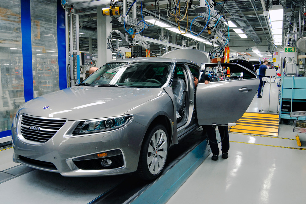SAAB production has started in Trollhättan