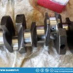 The 1700 cc cranckshaft will need some grinding. Especially the center main bearing neck shows visible wear.