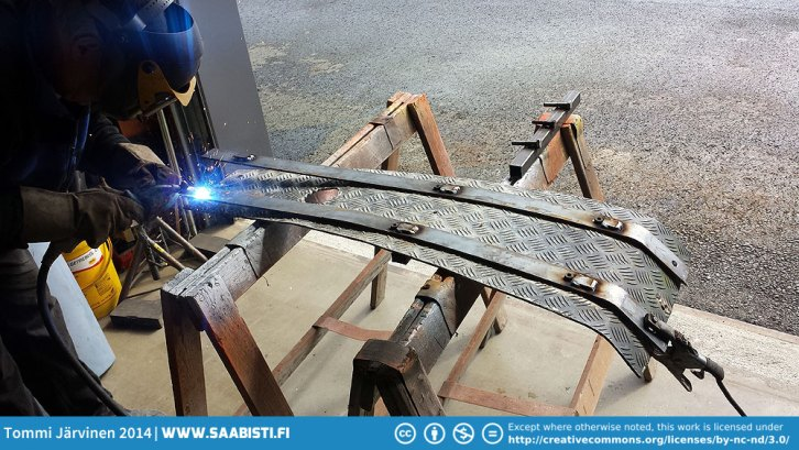 The nuts used to attach the steel rails need some protection.