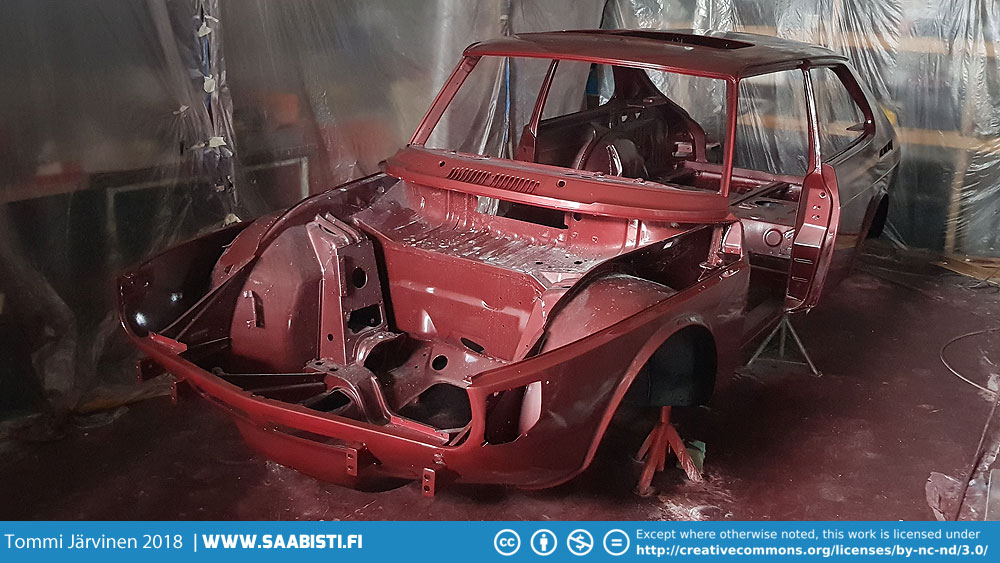 There we have it - a Cardinal Red Saab 99 Turbo