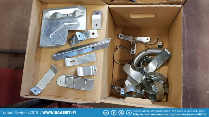 Zinc plated bigger components