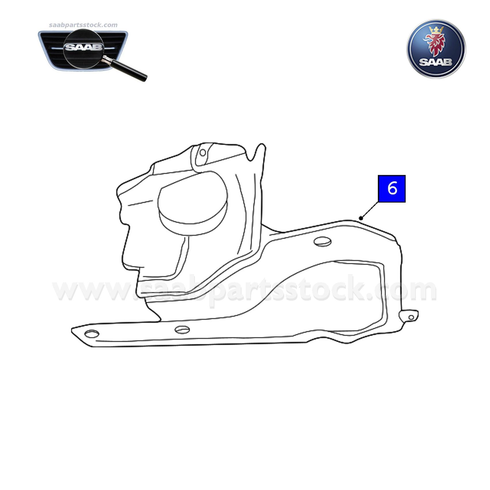 Protection Shield For Drive Belt, right side SAAB 4954954