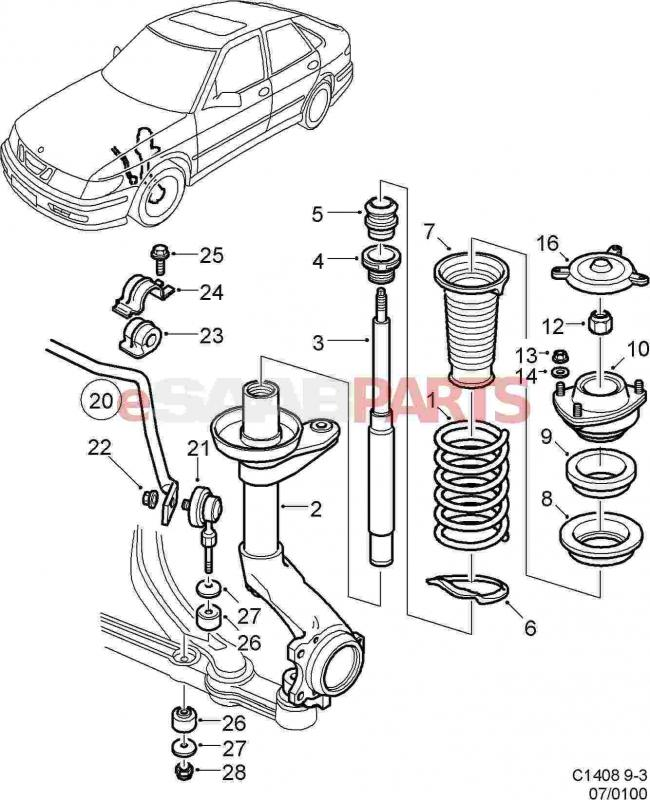 2002 9-3 Front camber bolt sourcing