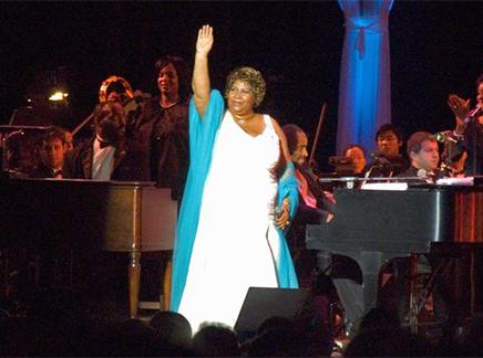 Aretha Franklin – African American philanthropist.