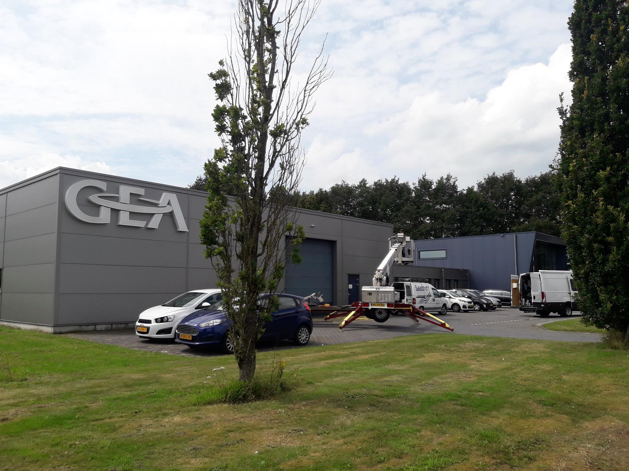 Bedrijfspand Van GEA Hovex BV. Anti Spin Behandeling Veendam Provincie Groningen