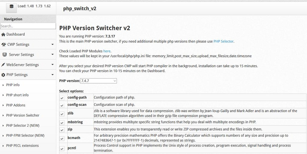 PHP Version switcher