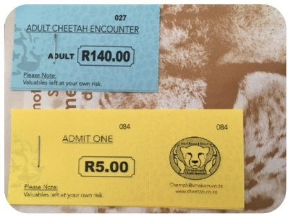 cheetah outreach entrance tickets and info