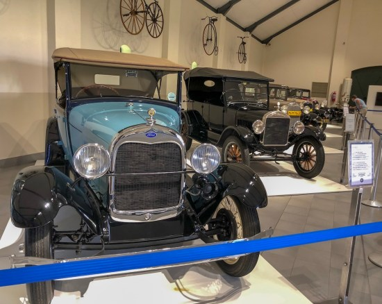 old fords exhibited at the franschhoek motor museum