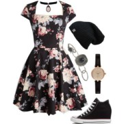 skater dress and converse