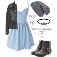 skater blue and gray
