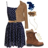 blue chiffon and combat