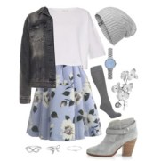 floral mist tulle skirt