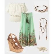 seagreen flower design boho style