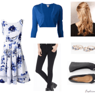 casual spring look in blue