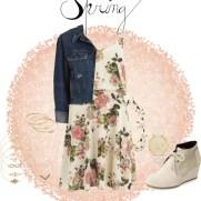 spring - florish strap dress