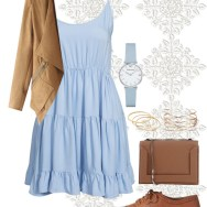 blue ruffles and oxfords