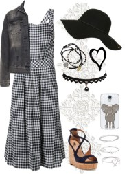 gingham style and denim