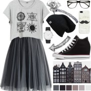 hipster look in tulle