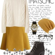 holiday style: cozy chic - mustard and knit